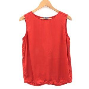 VINCE Silk top Split Back sleeveless in Orange